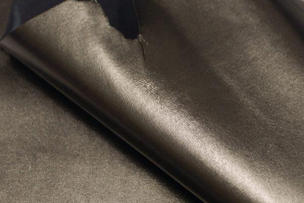 Кожа МРС, серо-зелёный металлик, 32 дм2.-104101
