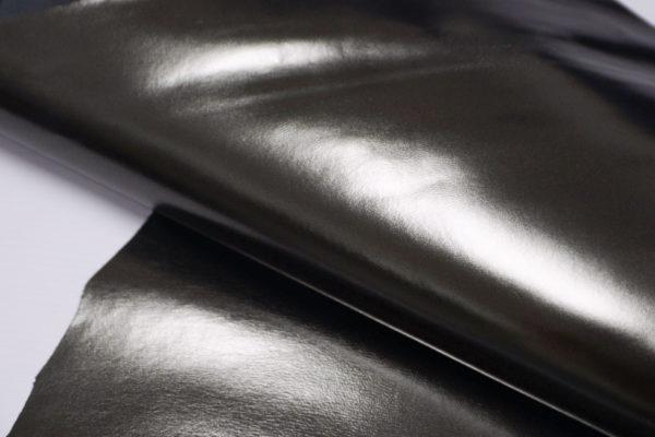 Кожа МРС, серо-зелёный металлик, 37 дм2.-104108