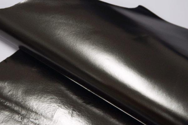 Кожа МРС, серо-зелёный металлик, 34 дм2.-104109