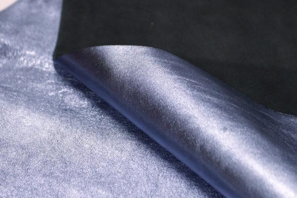 Кожа МРС, голубой металлик, 52 дм2.-104113
