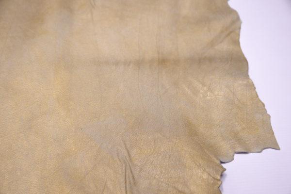 Кожподклад МРС, коза, золотистый, 41 дм2.-104115