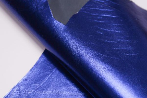 Кожа МРС, синий металлик, 33 дм2.-104120