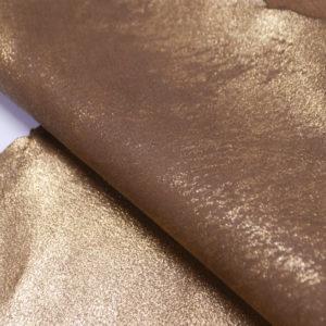 Велюр МРС с напылением, золотистый, 43 дм2.-104131