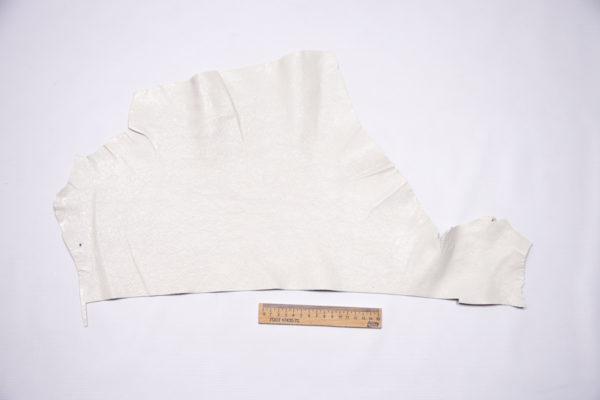 Шевро (кожа козы), белая, 13 дм2.-104234