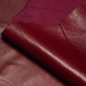 Кожа МРС, бордовый, 69 дм2.-106126