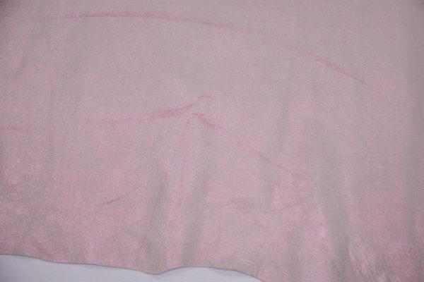 Кожа МРС с тиснением, розовый перламутр, 54 дм2, Russo di Casandrino S.p.A.-106154