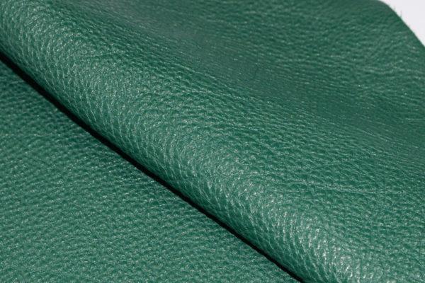 Кожа КРС, доллар (Dollaro), тёмно-зелёная, 56 дм2.-703006