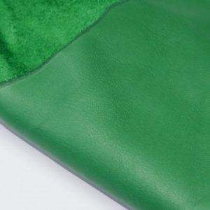 Кожа КРС, зелёная, 58 дм2.-703012