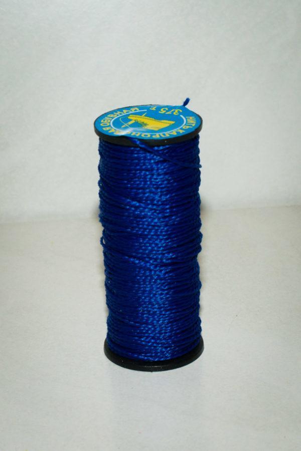Нить капроновая крученая, синяя (текс 375)-900003