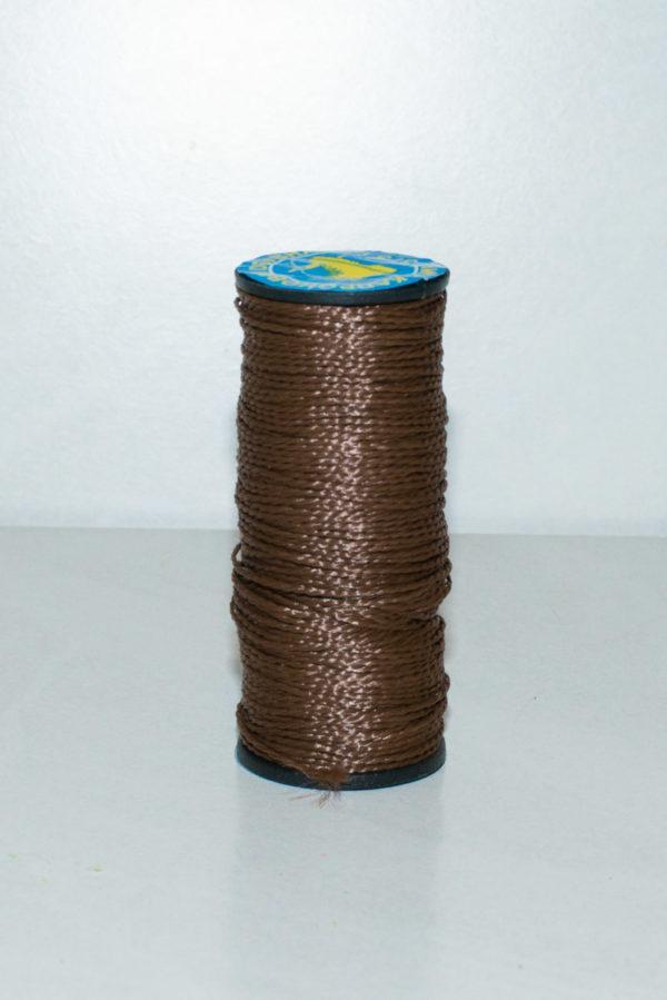 Нить капроновая крученая, коричневая (текс 375)-900005