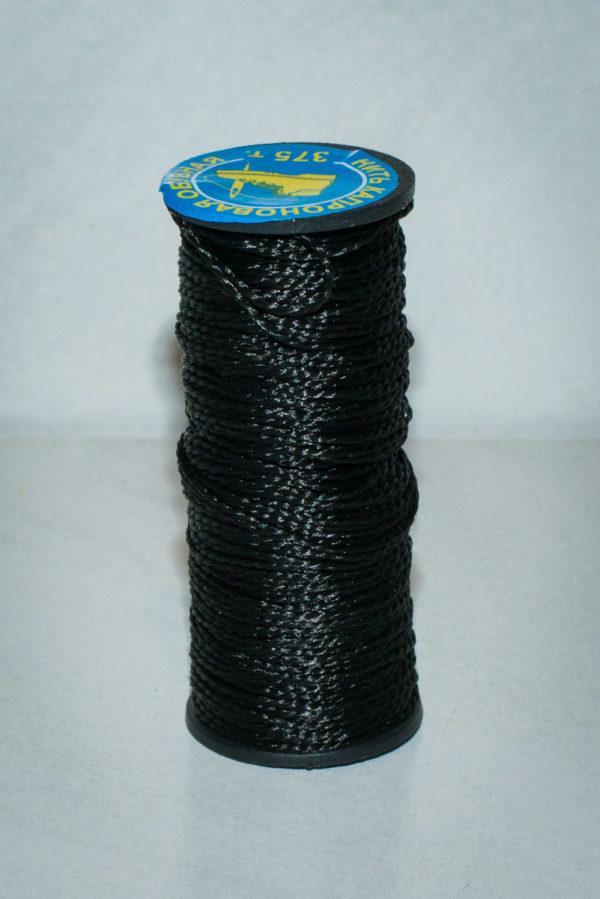 Нить капроновая крученая, чёрная (текс 375)-900012
