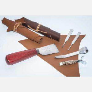 Ножи и инструменты для обработки краев кожи