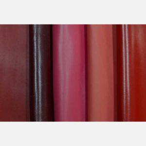 Кожа красных и бордовых оттенков