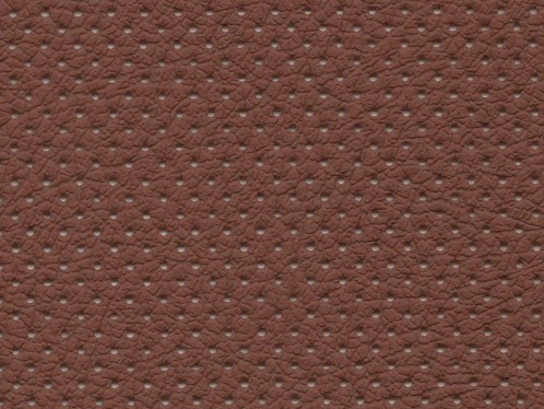 PU фактурная кожа с перфорацией, Швайцер (Schweitzer), коричневая - PU011MP