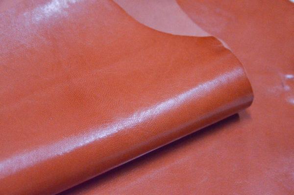 Кожа МРС, морковная, 21 дм2, Russo di Casandrino S.p.A.-105112