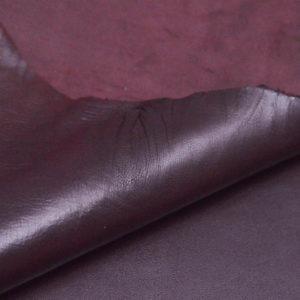 Кожа МРС, бордовая, 47 дм2, Russo di Casandrino S.p.A.-105127