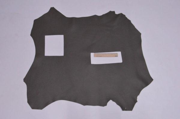 Кожа МРС, серый хаки, 44 дм2, Russo di Casandrino S.p.A.-105149