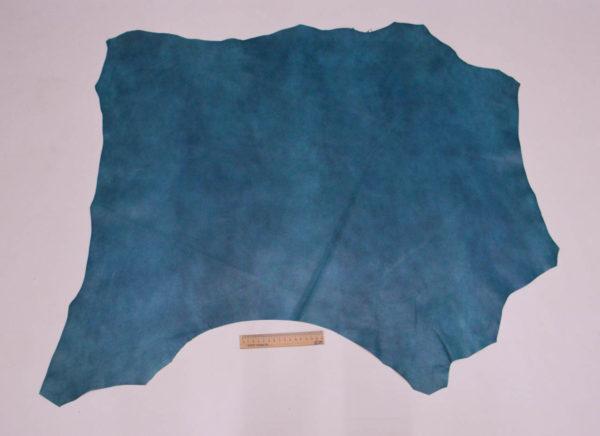 Кожа МРС, бирюзовый мрамор, 68 дм2, Russo di Casandrino S.p.A.-105154