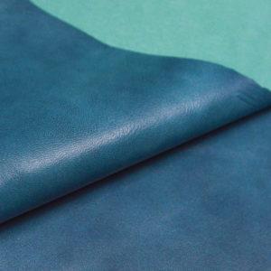 Кожа МРС, бирюзовый мрамор, 56 дм2, Russo di Casandrino S.p.A.-105155