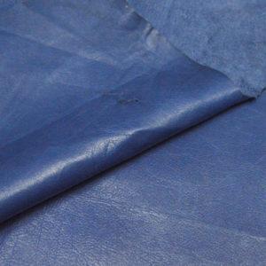 Кожа МРС, синяя, 53 дм2.-105159