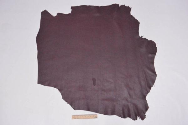 Кожа МРС, бордовая, 71 дм2.-105195