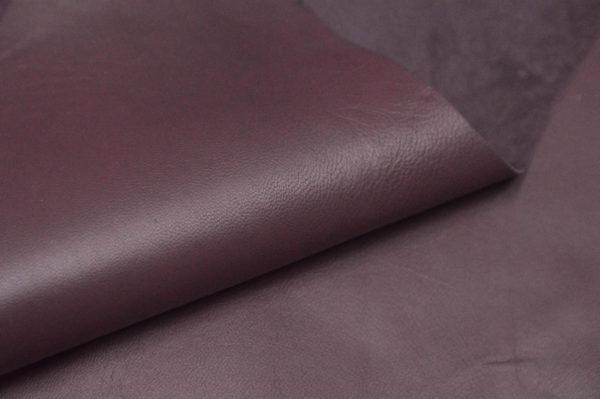 Кожа МРС, бордовая, 57 дм2.-105197