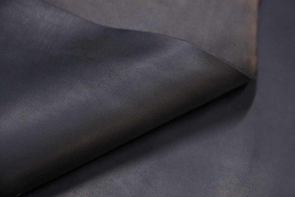 Кожа КРС растительного дубления, чёрная, 82 дм2, Tempesti S.p.A.-501060