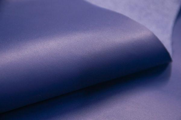 Кожа КРС, синяя, 182 дм2.- 501085