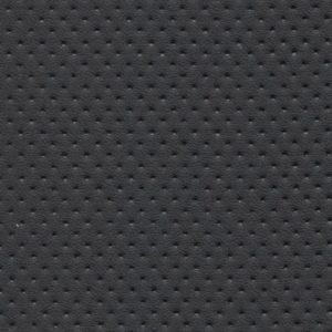 PU кожа гладкая с перфорацией, Швайцер (Schweitzer), чёрная - PU001NP