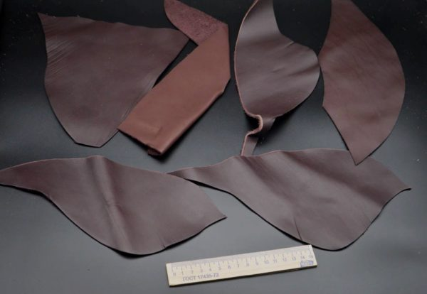 Кожа КРС, тёмно-коричневый микс, 14 дм2.-1-042