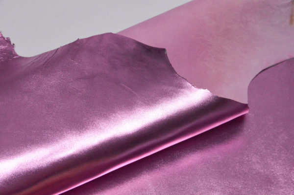 Кожа МРС, розовый металлик, 53 дм2, Russo di Casandrino S.p.A.-105098