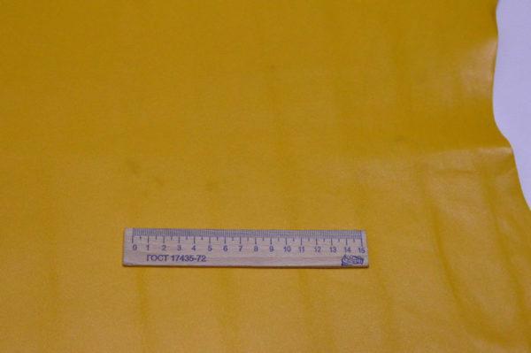 Кожа МРС, жёлтая, 56 дм2, Russo di Casandrino S.p.A.-105109