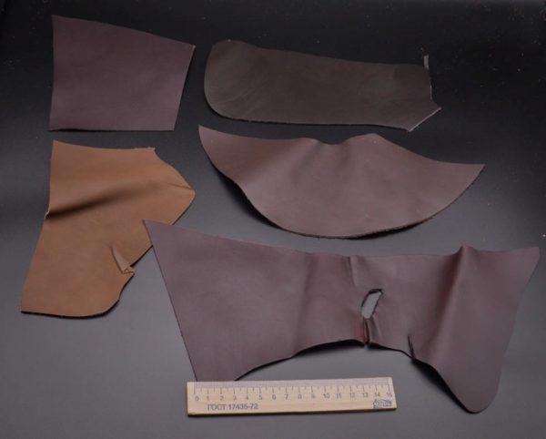 Кожа КРС, коричневый микс, 12 дм2.-1-055