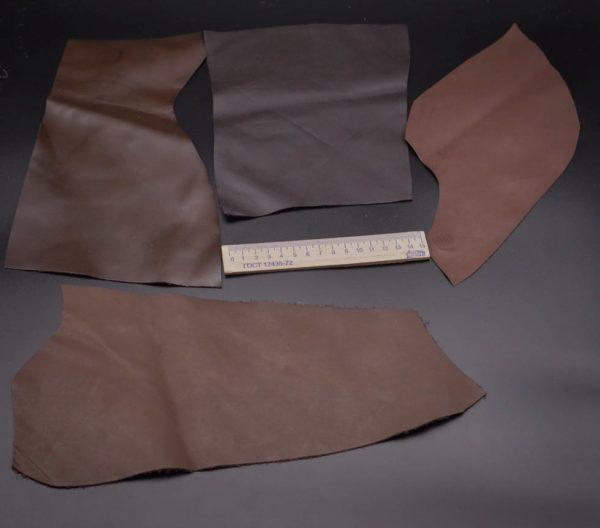 Кожа КРС, тёмно-коричневая, 14 дм2.-1-063