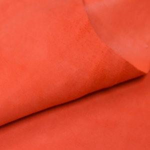 Велюр МРС, морковный, 28 дм2.-107035