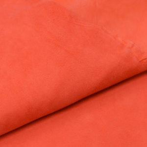 Велюр МРС, морковный, 27 дм2.-107039