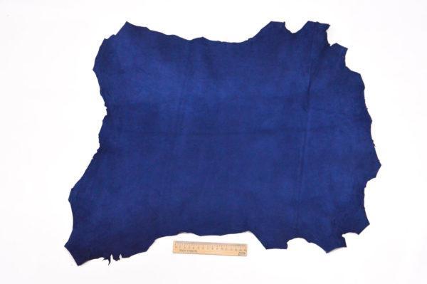 Велюр МРС (коза), синий, 38 дм2.-107061