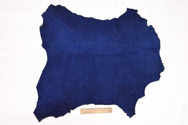 Велюр МРС (коза), синий, 38 дм2.-107063