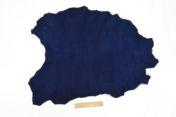 Велюр МРС (коза), синий, 39 дм2.-107065