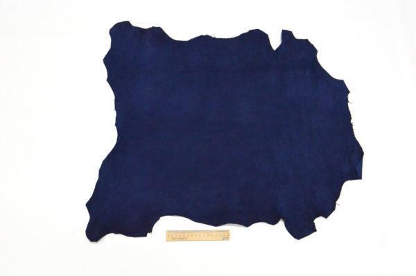Велюр МРС (коза), синий, 39 дм2.-107069