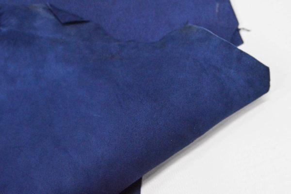 Велюр МРС (коза), синий, 28 дм2.-107073