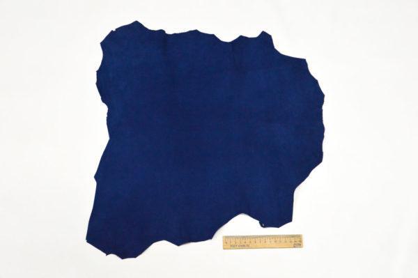 Велюр МРС (коза), синий, 22 дм2.-107074