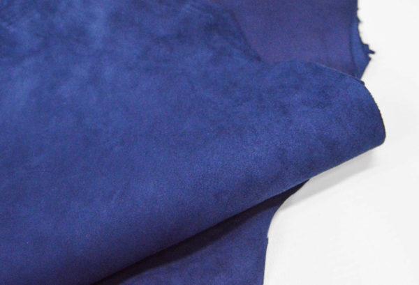 Велюр МРС (коза), синий, 26 дм2.-107075
