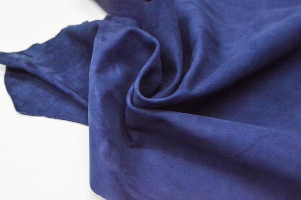 Велюр МРС (коза), синий, 40 дм2.-107076