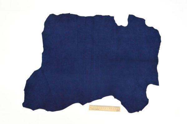 Велюр МРС (коза), синий, 37 дм2.-107077