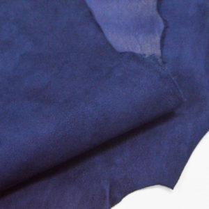 Велюр МРС (коза), синий, 38 дм2.-107078