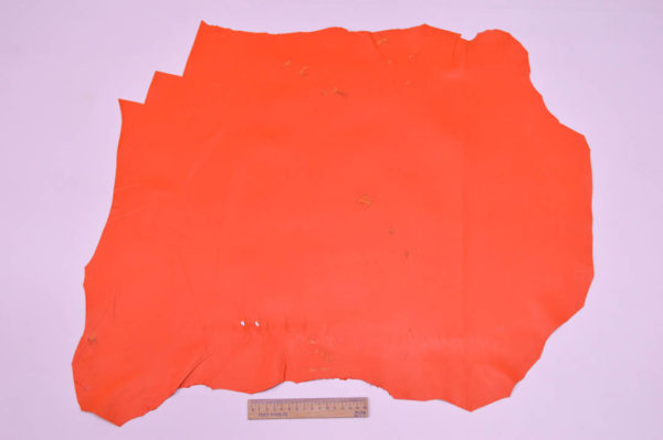 Кожа МРС, морковная, 36 дм2.-107132