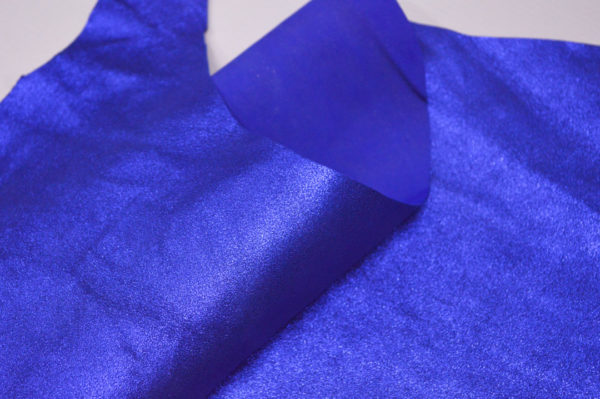 Велюр МРС (коза), синий металлик, 23 дм2.-107206