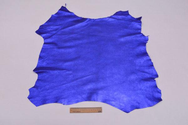 Велюр МРС (коза), синий металлик, 35 дм2.-107207