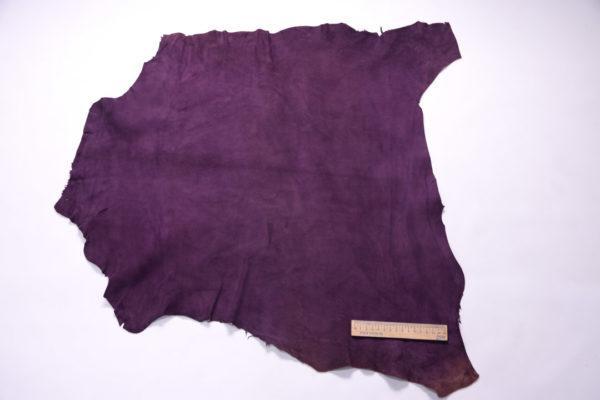 Велюр МРС (коза), фиолетовый, 38 дм2.-107218
